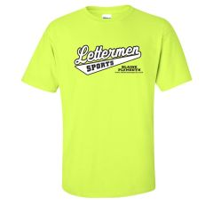 Classic Lettermen Tee, Safety Green
